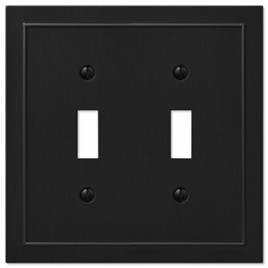 Amerelle Bethany 2-Gang Toggle Wall Plate (Black)
