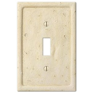 Amerelle 1-Gang Toggle Wall Plate (Ivory)
