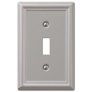 Amerelle 1-Gang Toggle Wall Plate (Brushed Nickel)