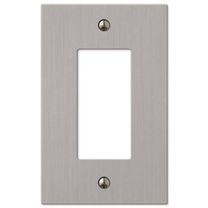 Amerelle 1-Gang Decorator Rocker Wall Plate (Brushed Nickel)