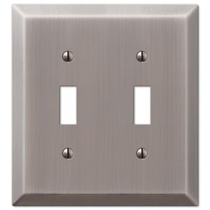 Amerelle 2-Gang Toggle Wall Plate (Antique Nickel)