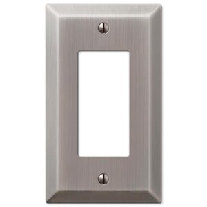 Amerelle 1-Gang Decorator Rocker Wall Plate (Antique Nickel)