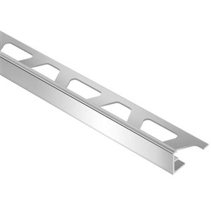 Schluter Systems 3/8-in x 8-ft L Aluminum Polished Chrome Tile Edge Trim