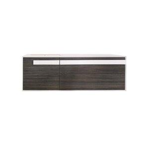 Bondi Designs Bliss 48-in Single Sink Domain Textured Woodgrain Bathroom Vanity With Solid Surface Top