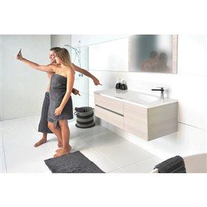 Bondi Designs Saber 48-in Single Sink Seasoned Oak Bathroom Vanity With Solid Surface Top