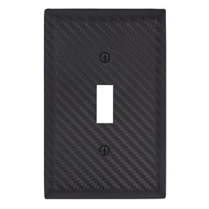 Amerelle 1-Gang Toggle Wall Plate (Black)