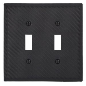 Amerelle 2-Gang Toggle Wall Plate (Black)