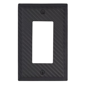 Amerelle 1-Gang Decorator Rocker Wall Plate (Black)