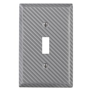 Amerelle 1-Gang Toggle Wall Plate (Silver)