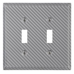 Amerelle 2-Gang Toggle Wall Plate (Silver)