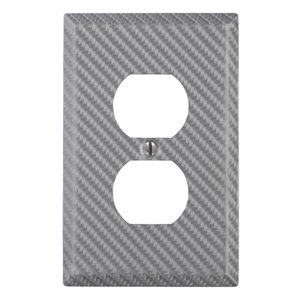 Amerelle 1-Gang Duplex Receptacle Wall Plate (Silver)