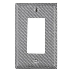 Amerelle 1-Gang Decorator Rocker Wall Plate (Silver)