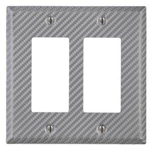 Amerelle 2-Gang Decorator Rocker Wall Plate (Silver)