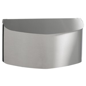 PRO-DF 14.25-in x 8.2-in Metal Brushed Stainless Steel Wall Mount Mailbox
