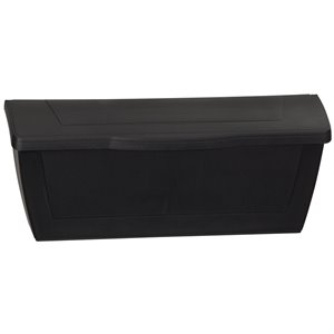 PRO-DF 15.5-in x 6.25-in Plastic Black Wall Mount Mailbox