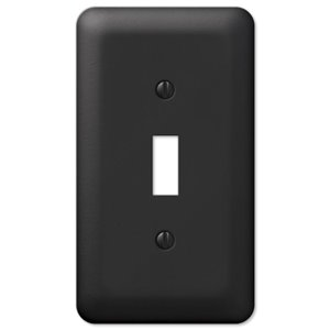 Amerelle Devon 1-Gang Toggle Wall Plate (Black)