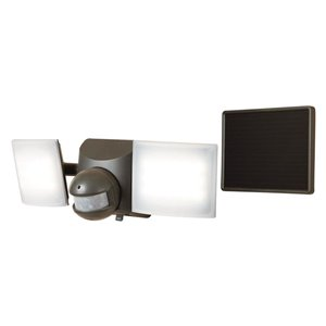 All-Pro 180-Degree 2-Head Bronze LED Motion-Activated Flood Light with Timer