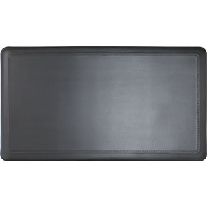 KORHANI Studio 20-in x 36-in Embossed Matte Black Anti-Fatigue Mat