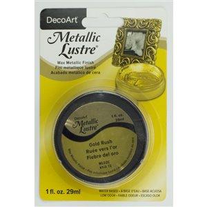 Dynamic 1 fl oz DecoArt Metallic Lustre Wax Finish