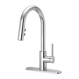 Pfister Fullerton Polished Chrome 1-Handle Pull-Down Sink/Counter Mount Traditional Kitchen Faucet