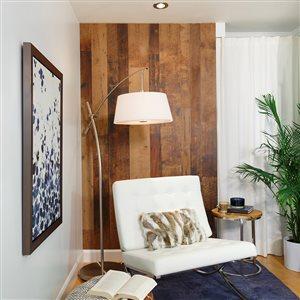 MURdesign 1/4-in Magog 4-ft x 8-ft Digital Brown Barn Wood Panel