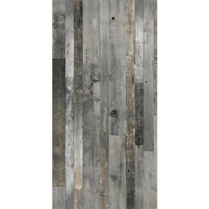 MURdesign 1/4-in Sutton 4-ft x 8-ft Digital Grey Barn Wood Panel