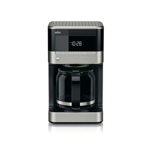 Braun 12-Cup Stainless Steel / Black Programmable Coffee Maker