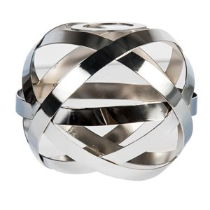 Litex 4.5-in H x 5.75-in W Chrome Cage Vanity light shade