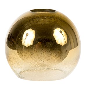 Litex 5-in H x 4.92-in W Golden Ombre Seeded glass Globe Vanity light shade
