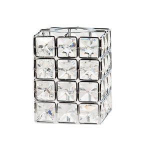 Litex 3.54-in H x 4.33-in W Chrome Crystal Crystal Vanity light shade