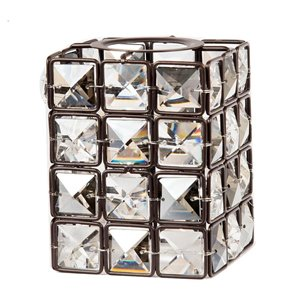 Litex 3.54-in H x 4.33-in W Bronze Crystal Crystal Geometric Vanity light shade