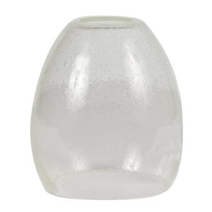 Litex 5.375-in H x 5-in W Clear Seeded glass Vanity light shade