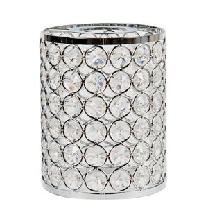 Litex 5.25-in H x 4-in W Chrome Crystal Crystal Cylinder Vanity light shade
