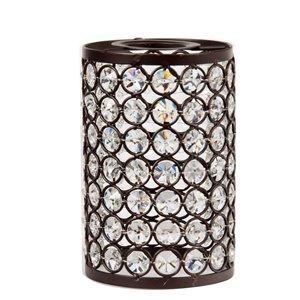 Litex 5.25-in H x 3.93-in W Bronze Crystal Crystal Cylinder Vanity light shade