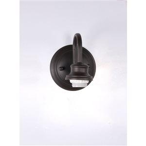 Litex 4.63-in W 1-Light Bronze Arm Hardwired Wall Sconce