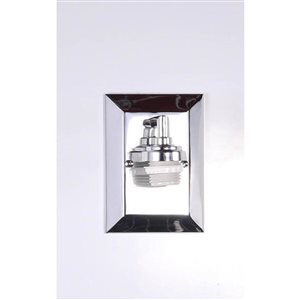 Litex 5.88-in W 1-Light Chrome Arm Hardwired Wall Sconce