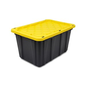 GSC Technologies 102L Black Tote with Standard Snap Yellow Lid