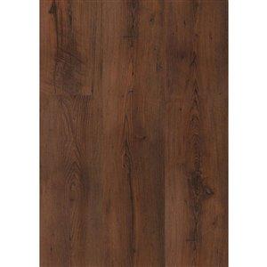 Kronotex Raven Ridge Antique Chestnut Embossed Wood Laminate Plank Sample