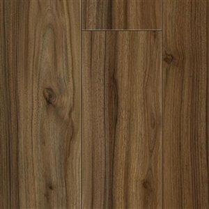 Kronotex Raven Ridge Vintage Walnut Smooth Wood Laminate Plank Sample