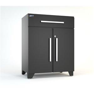 Proslat Elite 30-in W x 35-in H x 18-in D Steel Garage Base Cabinet (Grey)