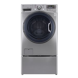 LG 5.2-cu ft High Efficiency Stackable Front-Load Washer (Graphite Steel) ENERGY STAR