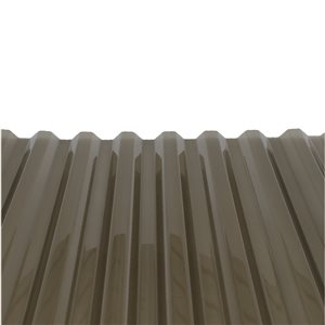 PolyCarb 26-in x 12-ft Translucent Corrugated Polycarbonate Roof Panel