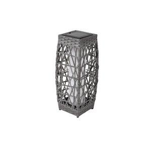 18-in Savona Grey Outdoor Solar LED Lantern