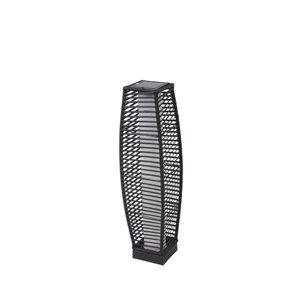 30-in Black Metal Outdoor Solar LED Lantern