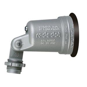 REDDOT 1-Light 150-Watt (0 W Equivalent) Gray Low Voltage Led Landscape Flood Light Kit