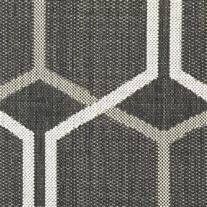 8-ft x 10-ft Grey Geometric Outdoor Area Rug