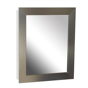 Zenith 24.5-in x 30.5-in Rectangle Surface/Recessed Medicine Cabinet with Mirror
