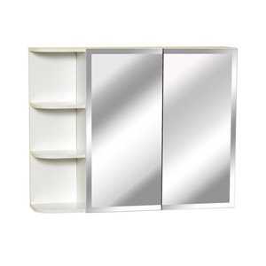 Zenith 31.5-in x 25-in Rectangle Surface Medicine Cabinet with Mirror