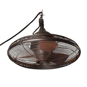 allen + roth Valdosta 20-in Oil Rubbed Bronze 3-Blade Downrod Mount Ceiling Fan