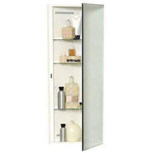 Zenith 14.25-in x 36-in Rectangle Corner Medicine Cabinet with Mirror